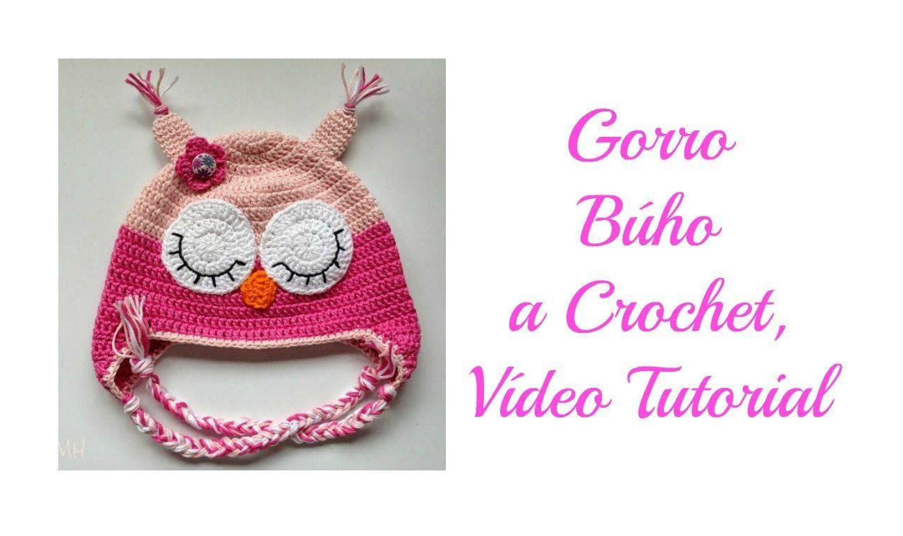 Gorro Búho a Crochet, Vídeo Tutorial | gorros a crochet | Pinterest ...
