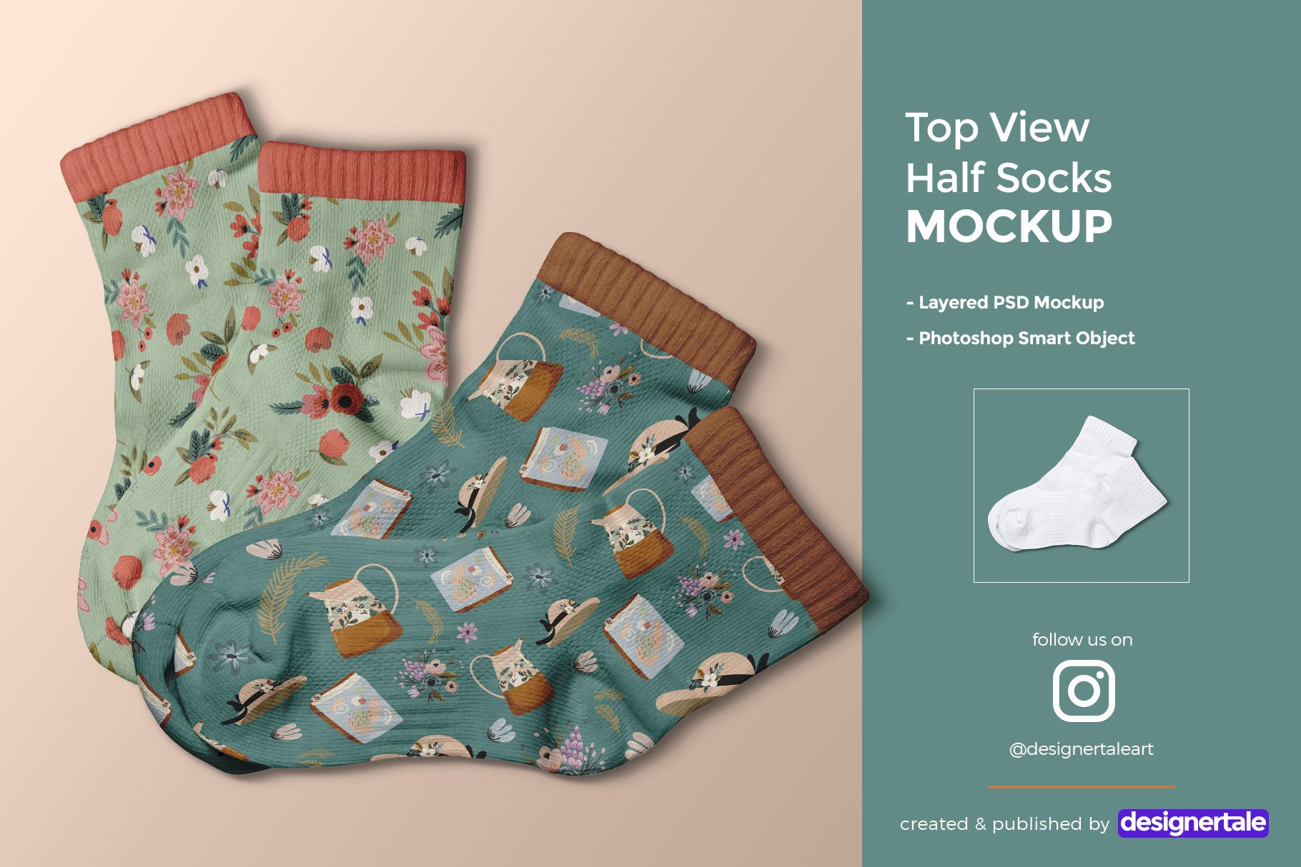 Download Top View Half Socks Mockup Designertale Half Socks Mockup Design Mockup