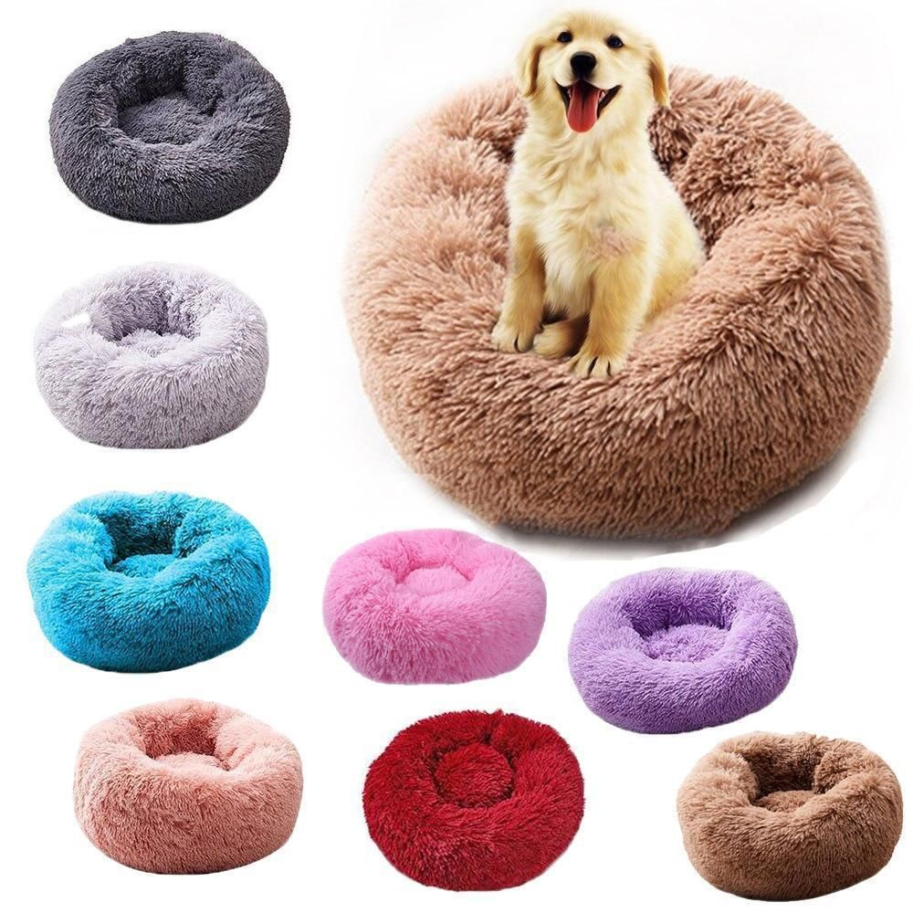Super Soft Plush Dog Bed Round Washable in 2020 (With