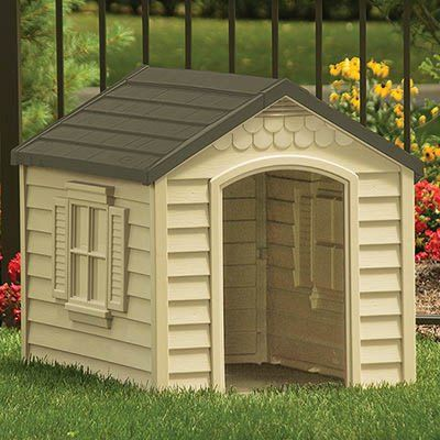 Have To Have It Suncast Small Medium Deluxe Dog House 81 98