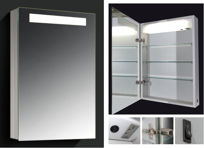 Led Lighted Medicine Cabinets With Mirrors Bathroom Lights Over