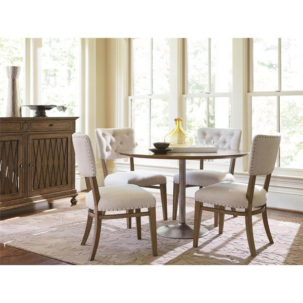 Universal Furniture Remix Round Dining Set With Remix Side Chair | The  Simple Stores