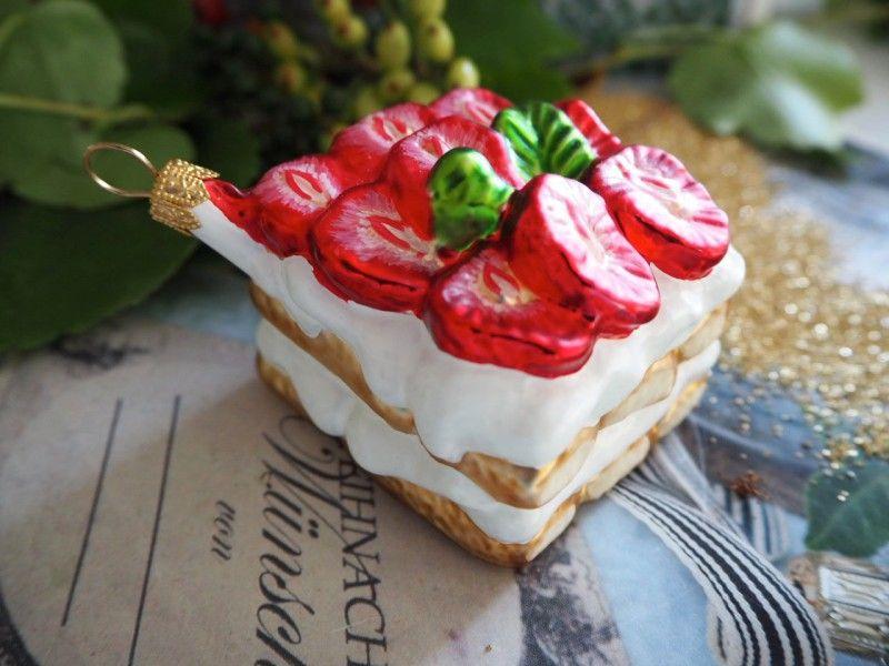 Kuchen Glas Kugel Christbaumschmuck Weihnachtsbaumschmuck