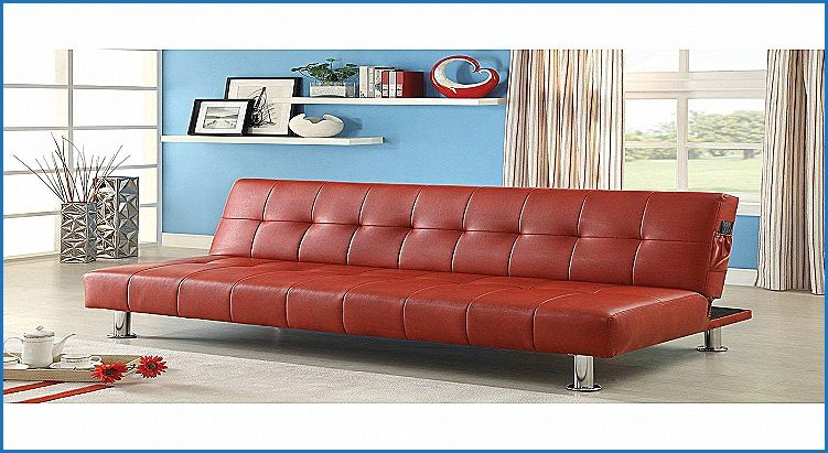 Beautiful Red Leather Futon Sofa Bed Http Countermoon Org