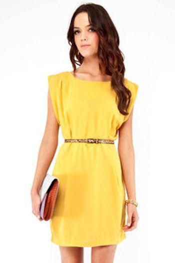 596123b6bc0b Tobi pleated dress.   MyStyleSpot.net   Box pleated dress, Dresses ...