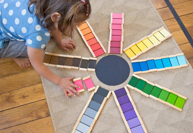 bricolage activit montessori la bo te couleurs id es jardin d 39 enfants alternatif. Black Bedroom Furniture Sets. Home Design Ideas