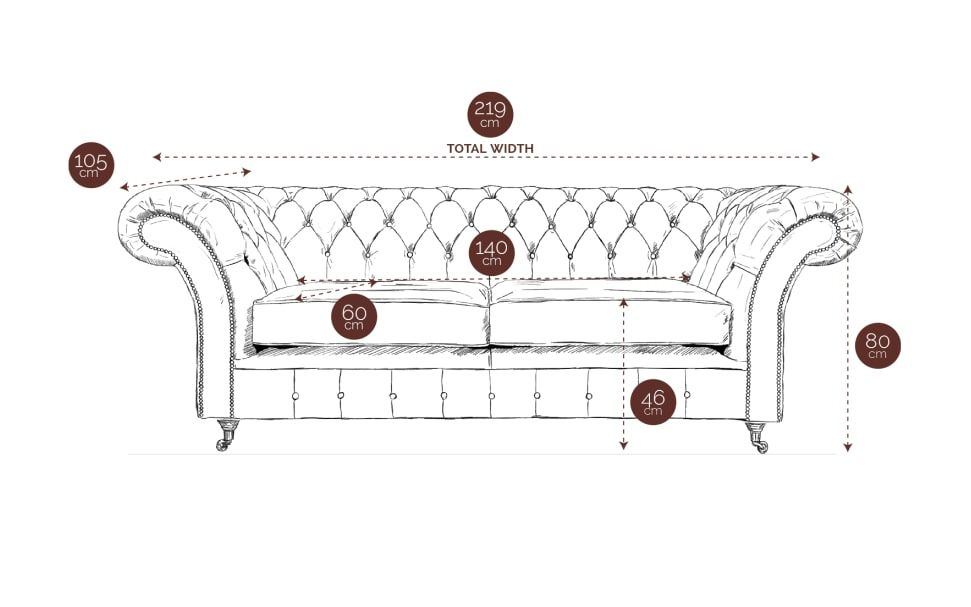 3 Seater Chesterfield Sofa Size Diagram Https Www Swjames Com Our Chesterfields Chesterfield No 3 M Le Chesterfield Sofa Sofa Handmade Sofa Frame