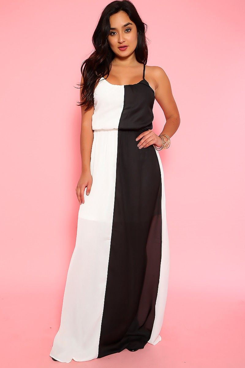 Sexy white black sheer sleeveless casual maxi dress casual maxi