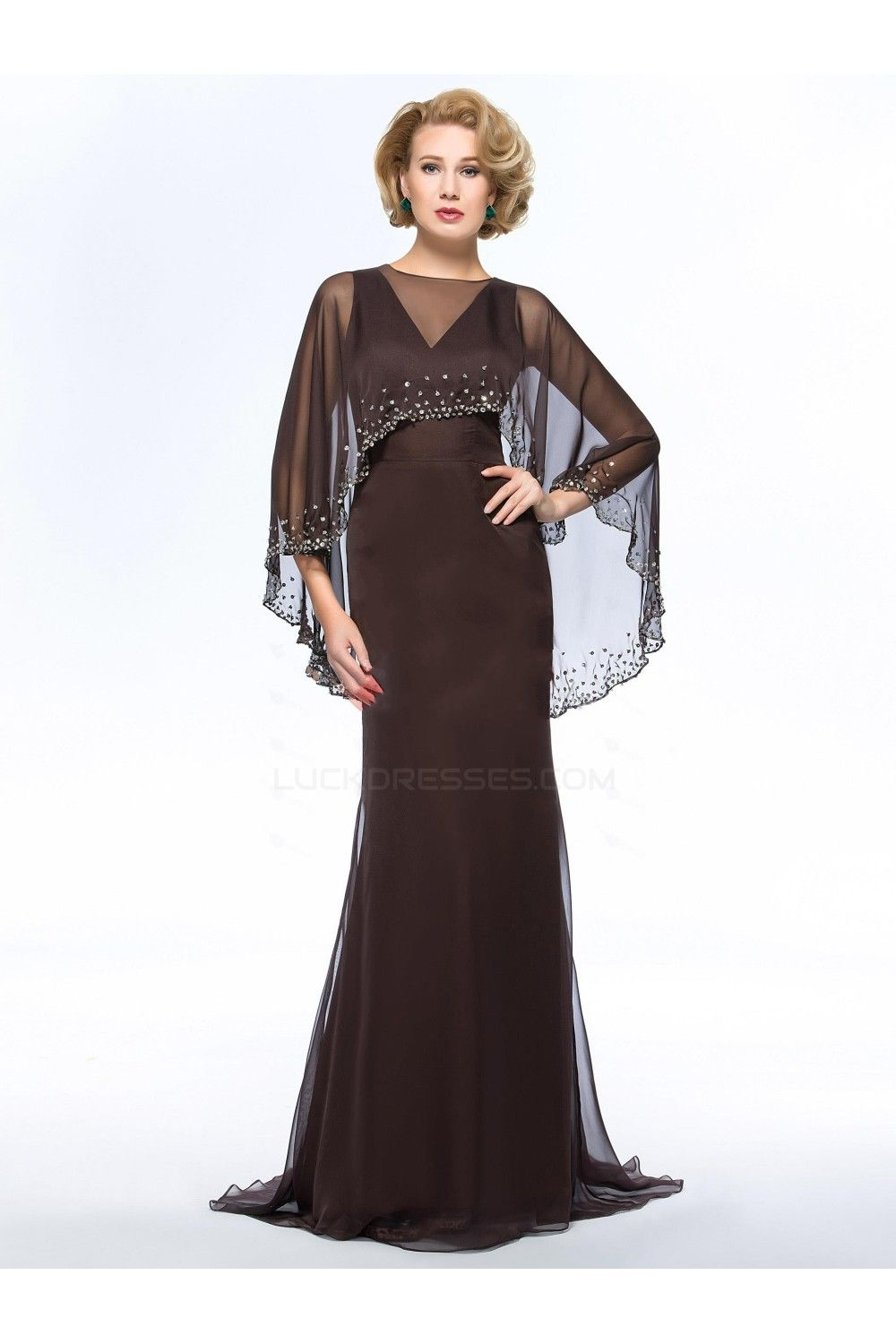 Long vneck chiffon mother of the bride dresses m beautiful