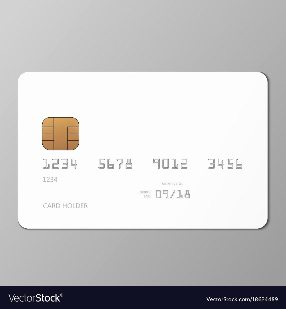 Blank Credit Card Template Fresh Realistic White Credit Card Mockup Template With Vector Credit Card Pictures Credit Card Design Card Templates