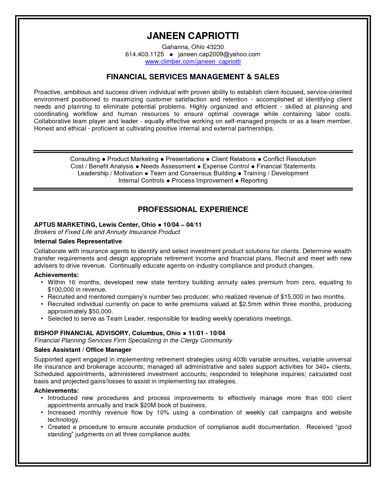 Personal Statement Resume Examples Best Template Collection