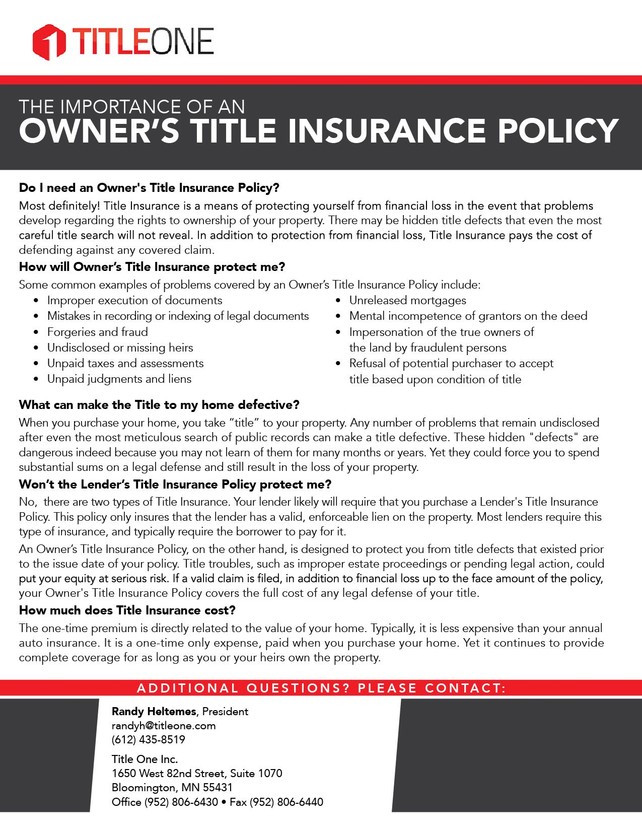 Owners Title Insurance Policy Title Insurance Insurance
