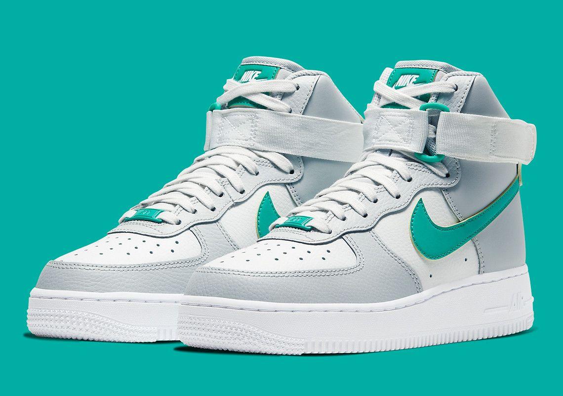 Nike Air Force 1 High Grey Green 334031