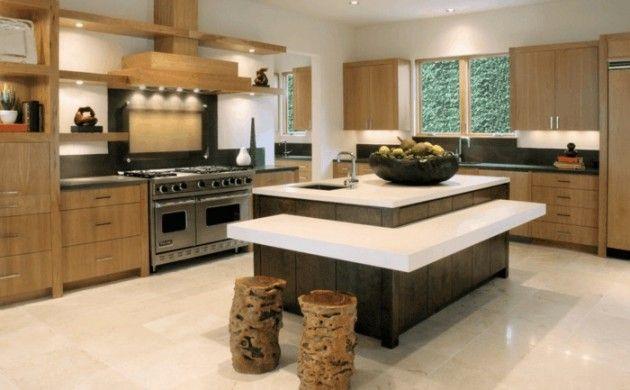Kücheninsel Mit Arbeitsfläche Und Sitzmöglichkeit Moderne Kochinsel