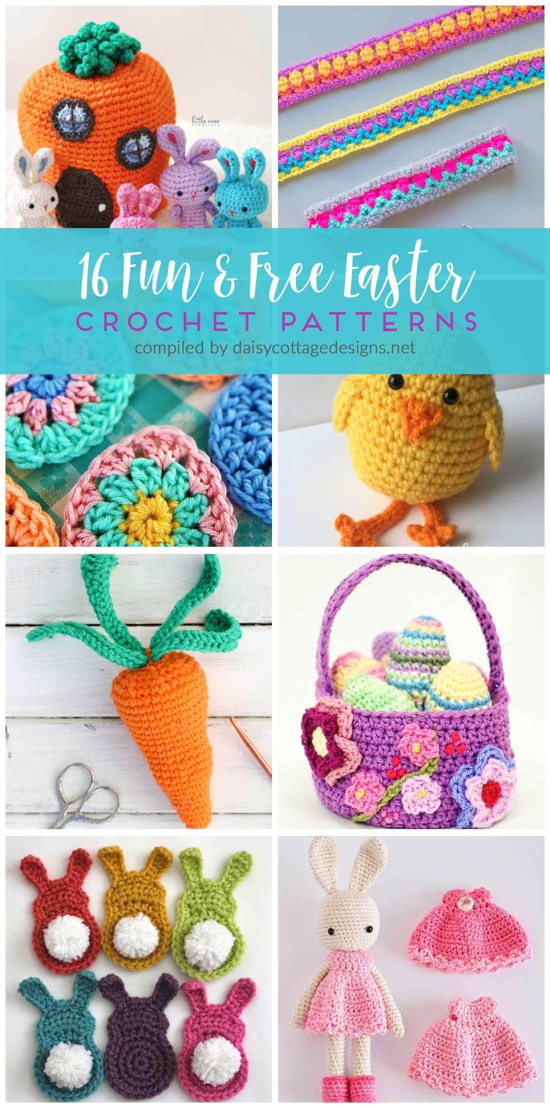 16 Free Crochet Patterns for Easter | Patrones amigurumi, Regalos de ...