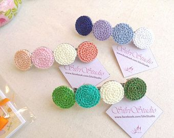 Crochet Hair Clips Pattern Collection Crochet Baby Hair