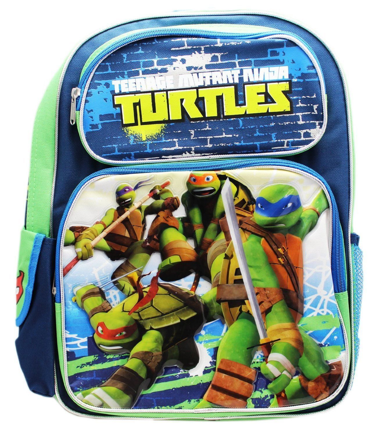 Full Size Blue And Green Teenage Mutant Ninja In Battle