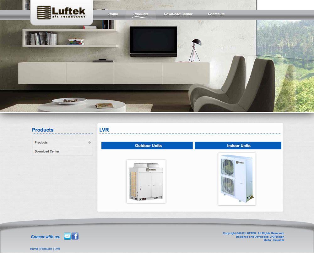 diseño y programación de LUFTEK portal informativo, cms, css3, joomla