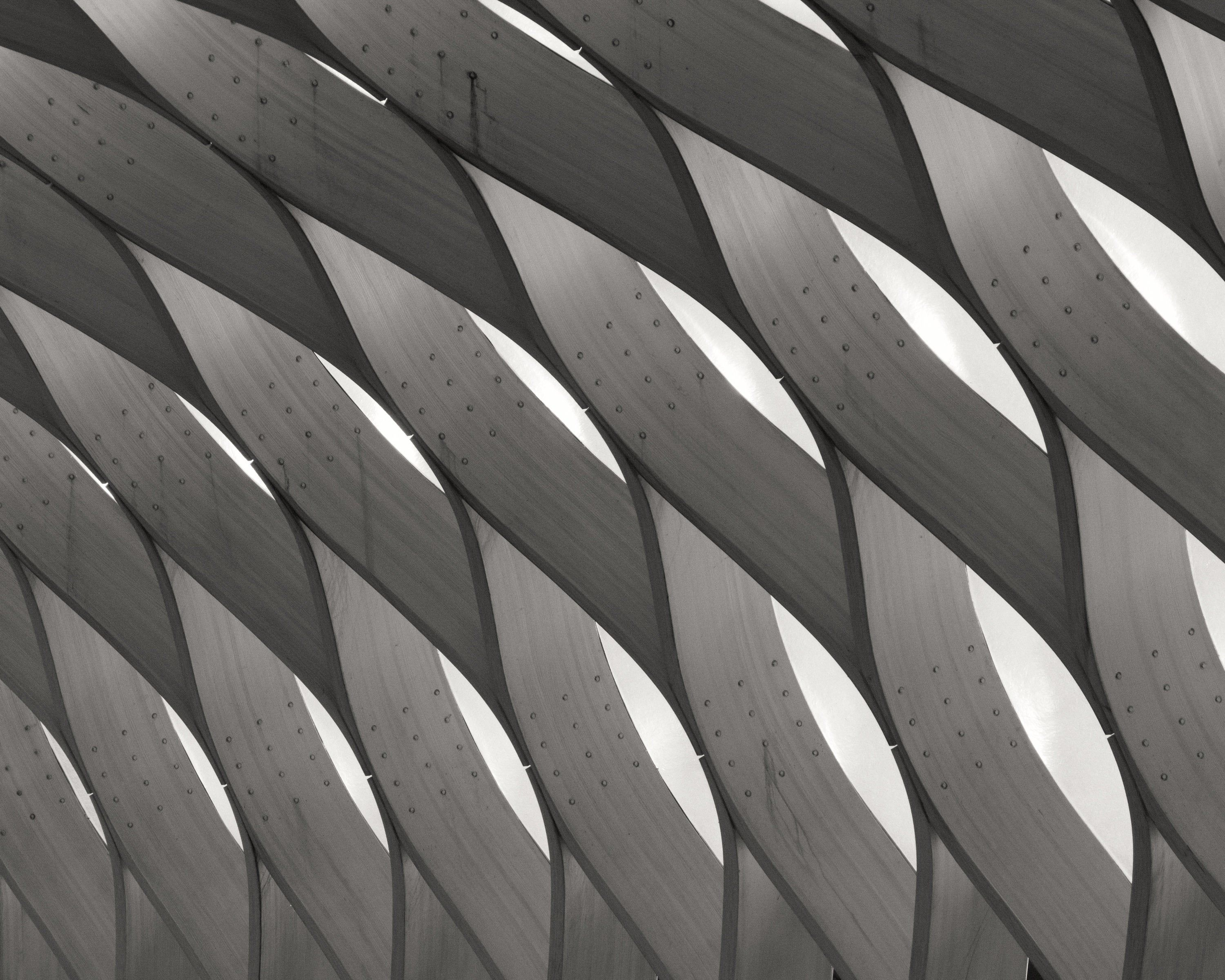 Ready to Hang Color Print Modern Chicago Architecture Unframed or Mounted Abstract Photograph. ZIG ZAG