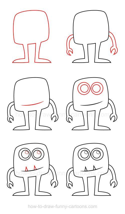How To Draw A Monster Boyama Sayfalari Cizilecek Seyler Ve