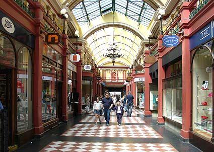 Great Western Shopping Arcade Birmingham England Uk Brick