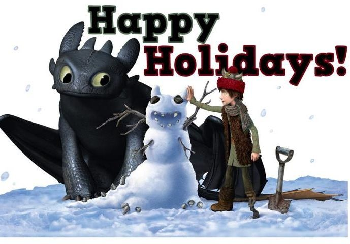 merry christmas happy snoggletog xd - How To Train Your Dragon Christmas