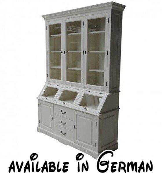 B012922H9I  Casa Padrino Shabby Chic Landhaus Stil Schrank - küchenwagen mit schubladen
