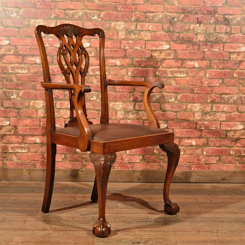 Victorian Chippendale Revival Elbow Chair, c.1890 | Victorian ...
