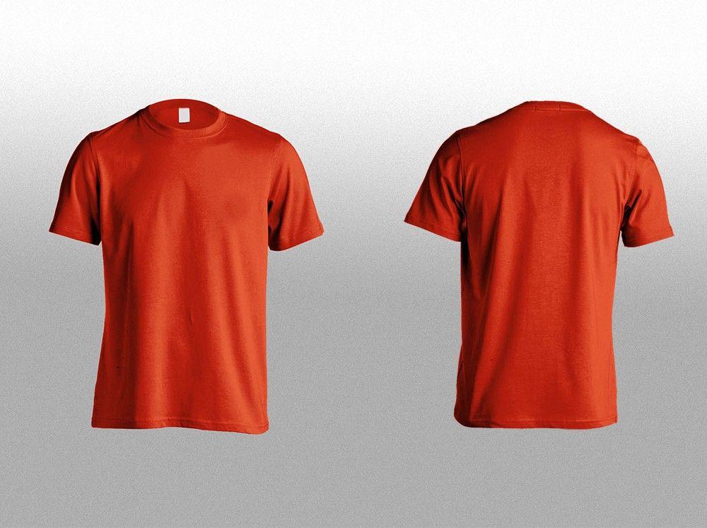 Download T Shirt Front Back Mockup Mockupworld Desain