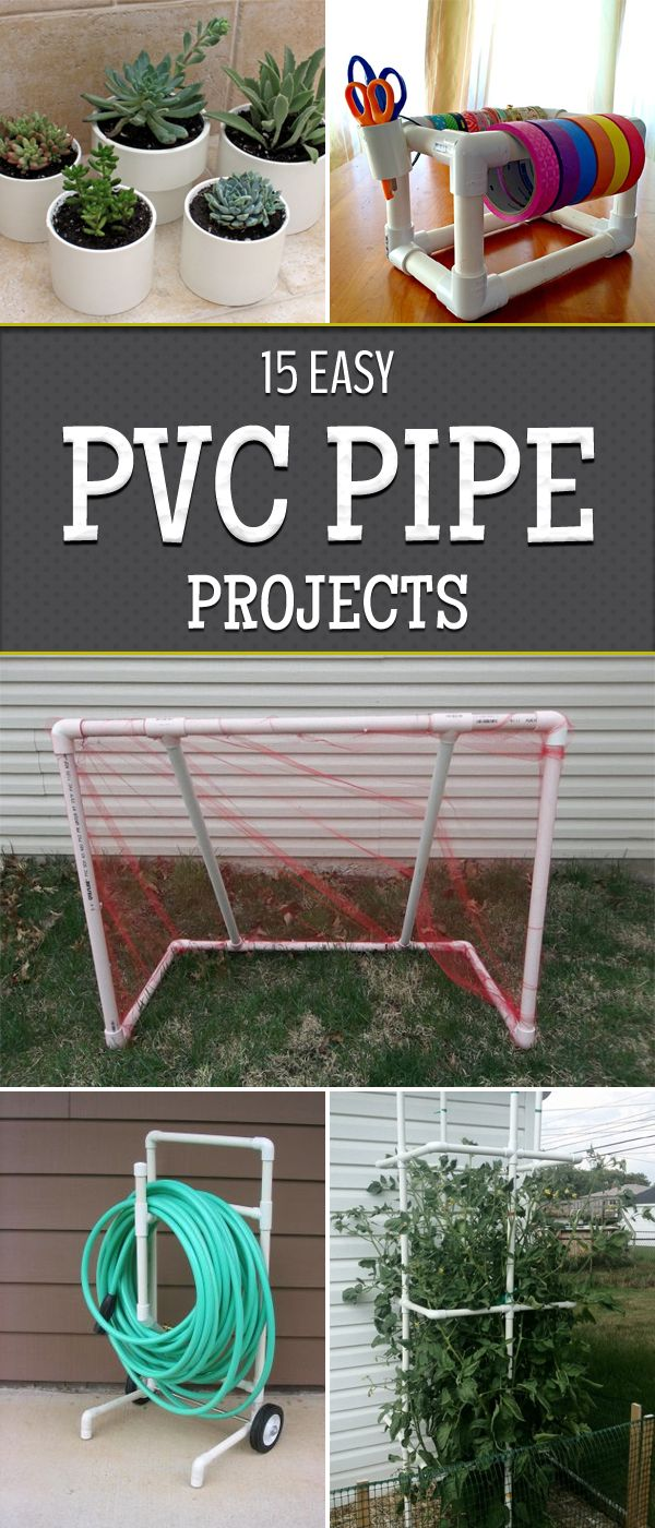 15 Easy PVC Pipe Projects Anyone Can Make | tubos de PVC, Muebles de ...