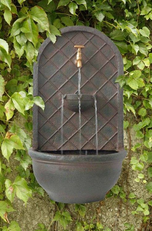 Outdoor wall mounted water features i want that - Wall mounted water feature ...