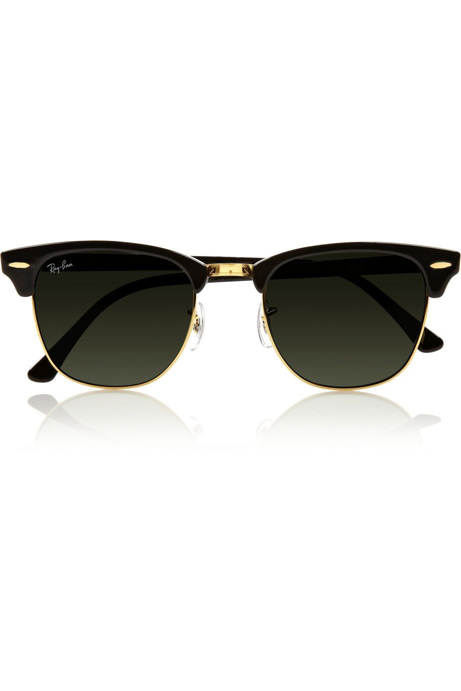 Clubmaster Acetate Sunglasses - Black Ray-Ban MH8rS9w