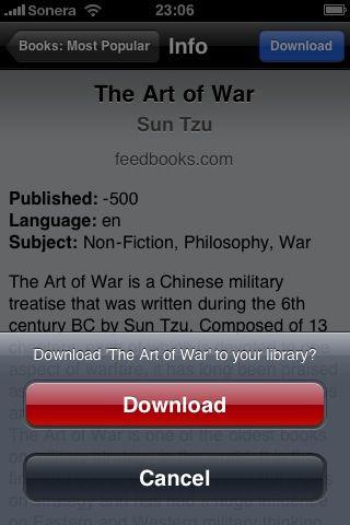 E-book on Smartphone