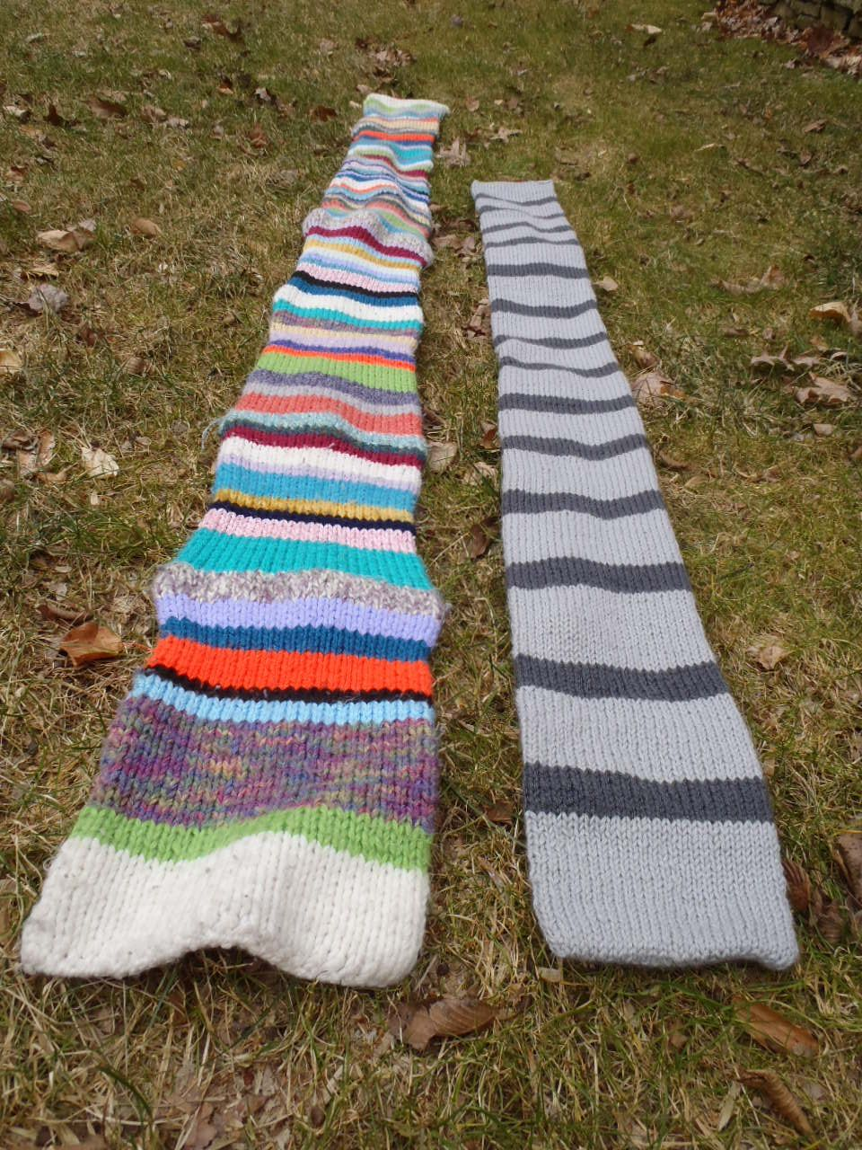 Stana S Critters Etc Knitting Pattern For Funky Stripes Scarf