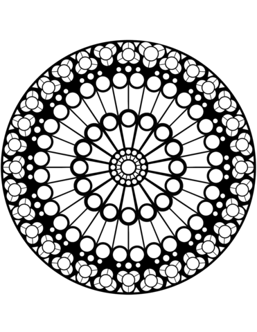 Rose Window Of Notre Dame Coloring Page Mandalascoloringvarious