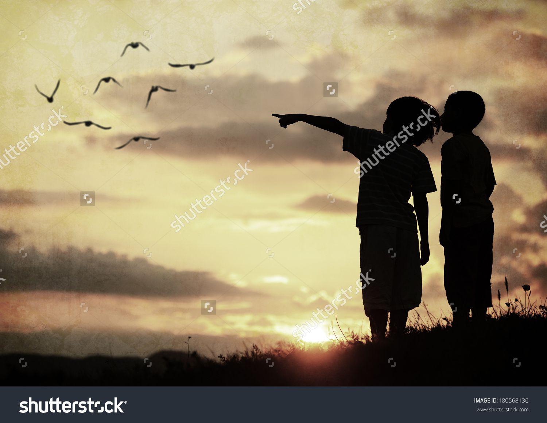 https://image.shutterstock.com/z/stock-photo-kids-silhouette-looking ...