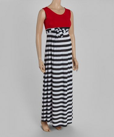 4a9bb9b7c6f Another great find on  zulily! Black Stripe Color Block Maternity Maxi Dress   zulilyfinds