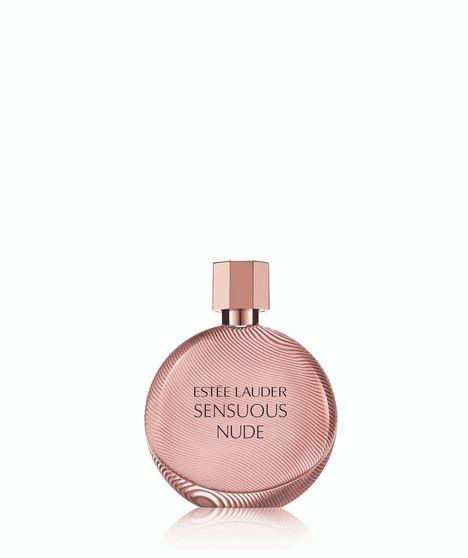Parfymen Sensous nude har en fløyelsmyk duft som bugner av jasmin, liljer og kokos som igjen berikes av musk, sandeltre og vanilje (kr 405/100ml, Estee Lauder).