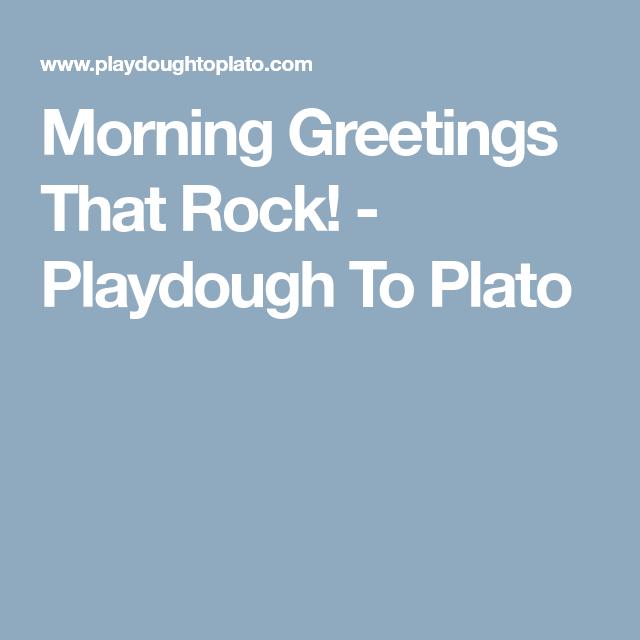 Morning greetings that rock kindergarten and activities morning greetings that rock preschool programspreschool songspreschool m4hsunfo