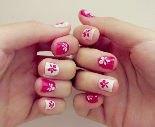 Red and pink color nail art for beginners nail art pinterest red and pink color nail art for beginners prinsesfo Images
