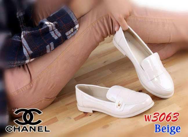 Sepatu Pantofel Perempuan Murah Chanel W3063 Model Sepatu Casual