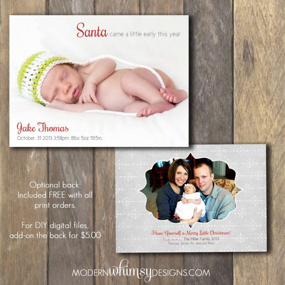 birth announcement christmas card baby girls room pinterest