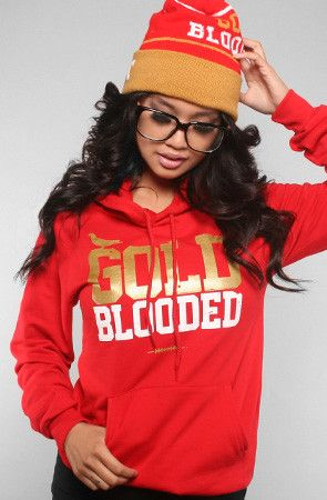 98bcd17ede2 Adapt Advancers — GOLD BLOODED Women s Red Gold Hoody