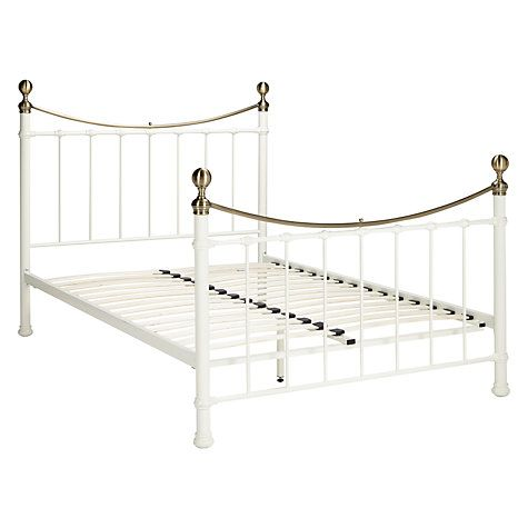 Jayne Brass Metal Bed Frame, Double | Bed frames, Brass metal and ...
