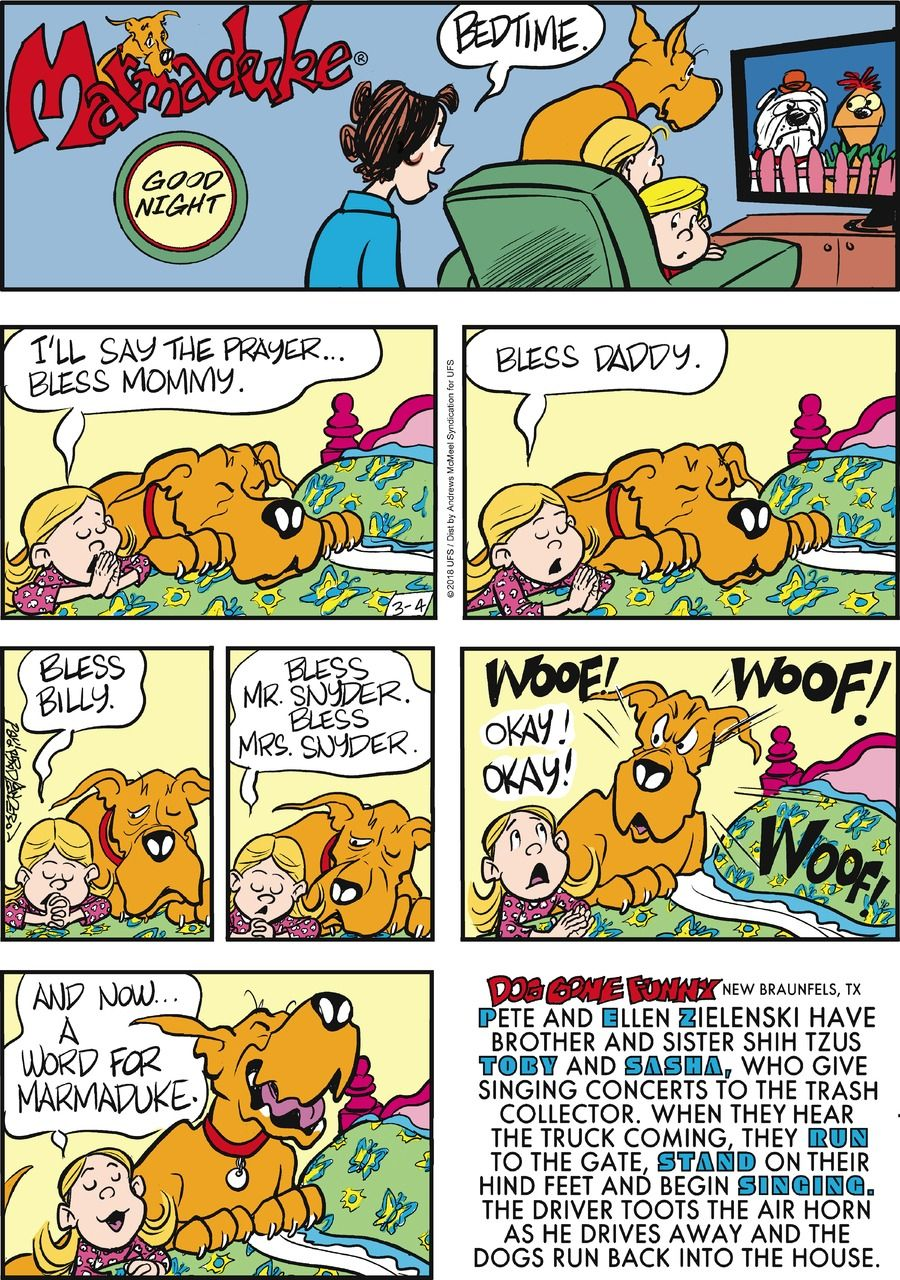 Marmaduke by Brad Anderson for March 04, 2018 (With images