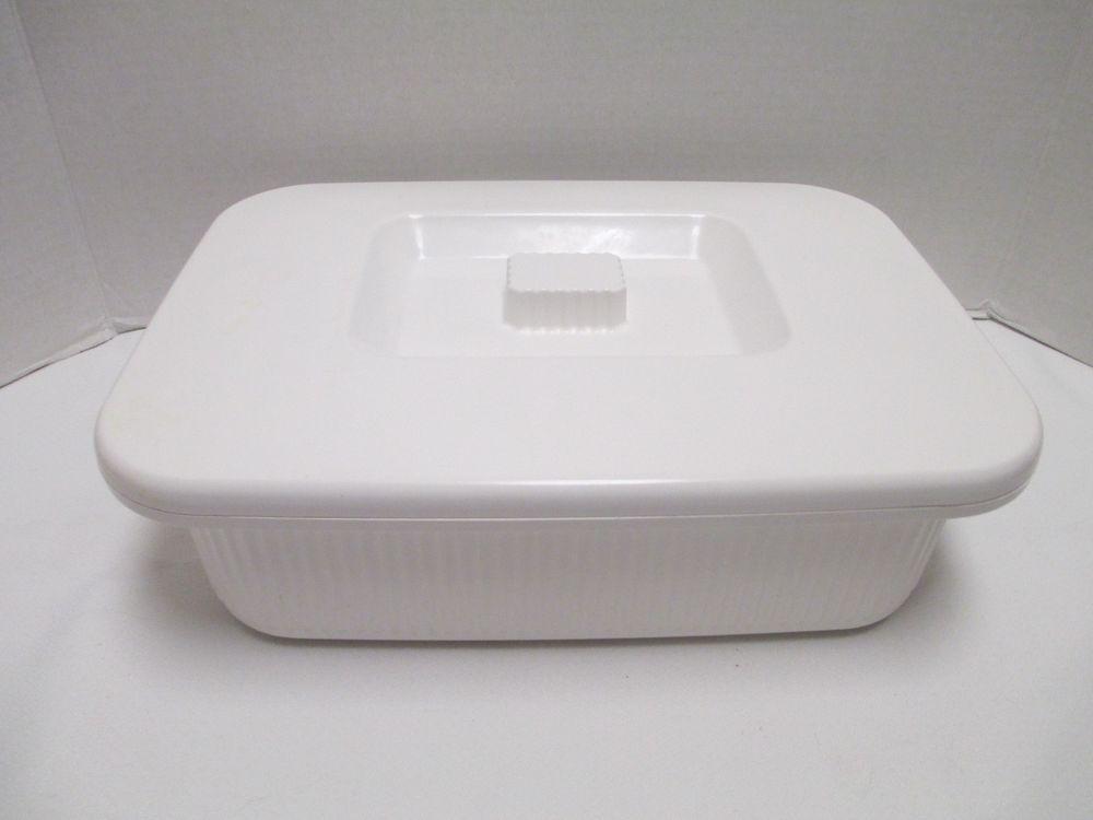 Anchor Hocking Microware Supreme Microwave Rectangular 3 5 Qt Baking Dish Lid Anchorhocking