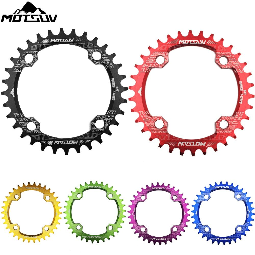 USA 104BCD Bicycle Chainring 32T//34T//36T Narrow Wide Round Crankset Plate New