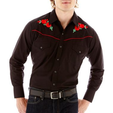 Ely Cattleman® Long-Sleeve Western Rose Shirt-Big & Tall  found at @JCPenney