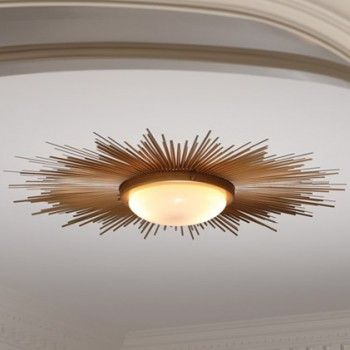 Sunburst light fixture gold pulp home eclectic ceiling lighting beth dotolo