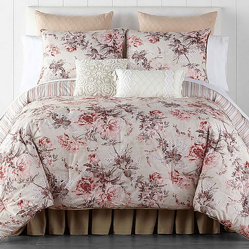 Jcpenney Bedspreads And Comforters.Jcpenney Home Camilla 4 Pc Floral Lightweight Reversible